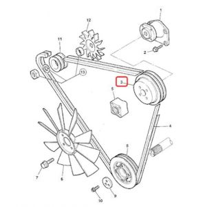 Fulie de ventilator Perkins DK (motor)