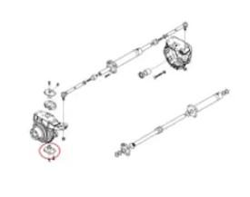 Pivot inferior buldoexcavator Volvo BL61